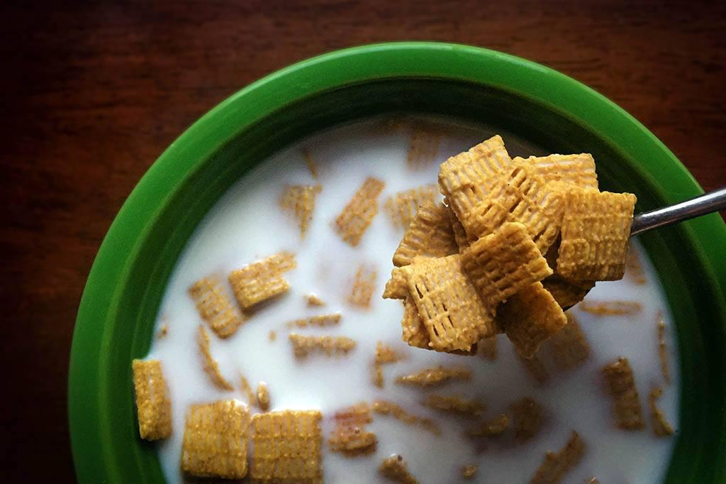 Bol de cérales pour le petit déjeuner