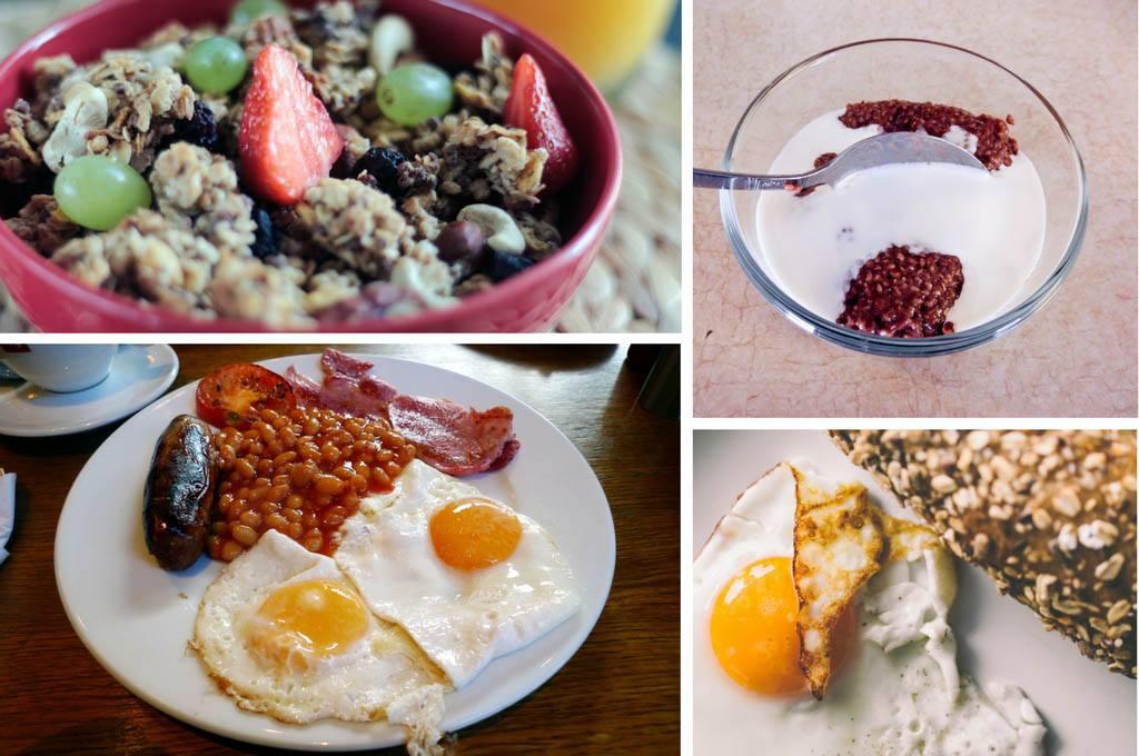 4 exemples de petits déjeuner