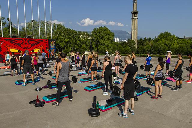 Cours de Fitness au Parc Paul Mistral à Grenoble