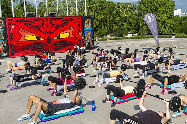 Cours de Body Pump au Parc Paul Mistral